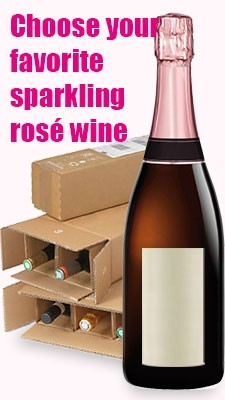 Sparkling rosé wine mixed cases